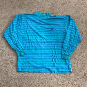 Vintage Green and blue Lacoste long sleeve tee